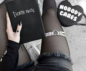 death note, black, and goth image