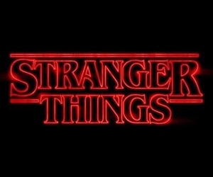 red and stranger things image