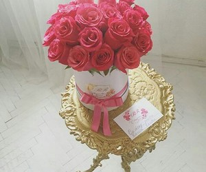 bouquet, flowers, and gold image