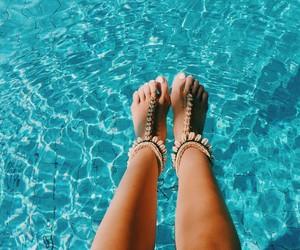 blue, boho, and summer image
