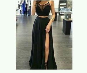 black, dress, and body image