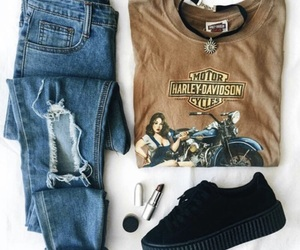 boyfriend jeans, clothes, and goals image
