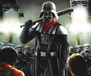 darth vader, star wars, and the walking dead image