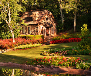 house, flowers, and garden image