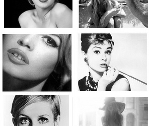 audrey hepburn, brigitte bardot, and background repeat image