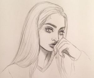 art, draw, and girl image