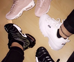 black, Fila, and tumblr image
