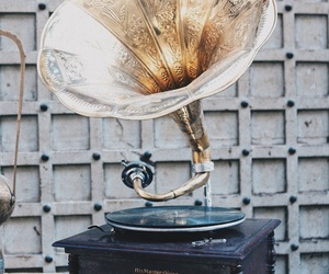 antiques, gramophone, and grunge image