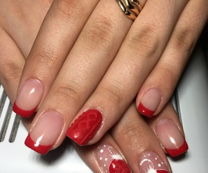 beauty, red, and nail image