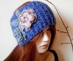 etsy, knitted neck warmer, and crochet headband image