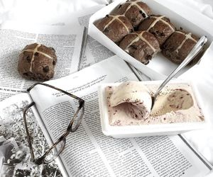 food, ice cream, and style image