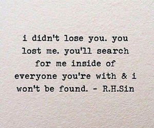 quotes, lost, and sad image