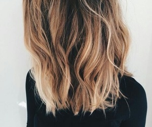 brunette, ombre, and girl image