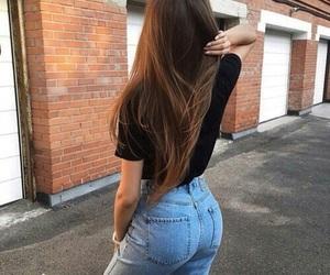 brunette, girl, and butt image