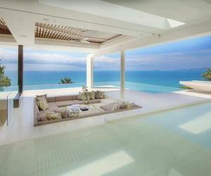 luxury, house, and sea image