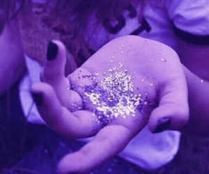 colorful, glitter, and purple image