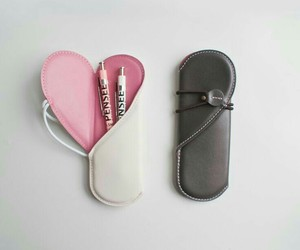 heart, little, and pen case image