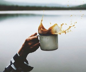 coffee, lake, and photography image