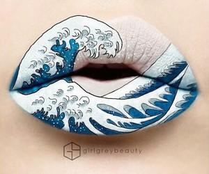 lips, art, and makeup image