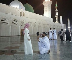 muslim, couple, and hijab image