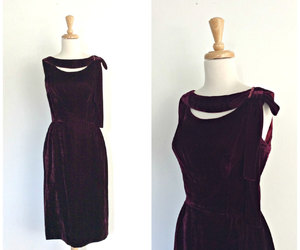 cocktail dress, etsy, and knee length image