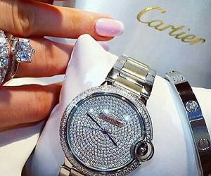 cartier, luxury, and watch image