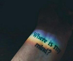 rainbow, tattoo, and grunge image