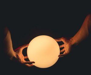 dark, hands, and magic image