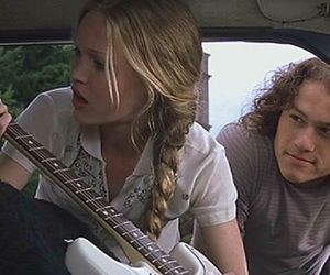 10 things i hate about you, hair, and heath ledger image