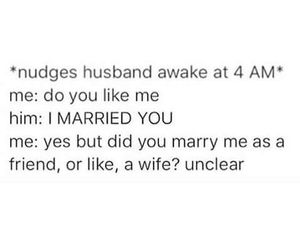 funny, marriage, and love image