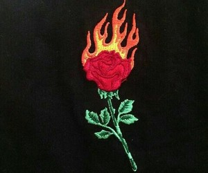 burn, flame, and clothes image