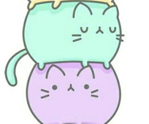 cat, kawaii, and ice cream image