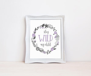etsy, wild child, and stay wild image