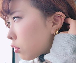 asia, pierced, and piercing image