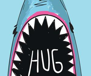 wallpaper, shark, and blue image