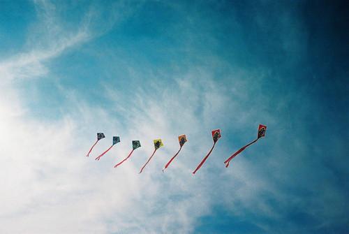sky, kite, and vintage image