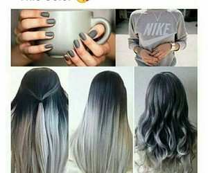 color, nails, and grey image