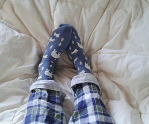 blue, pajama, and socks image
