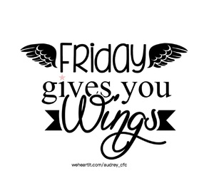 friday, weekend, and wings image