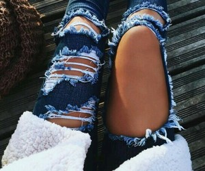 ripped and jeans+ image