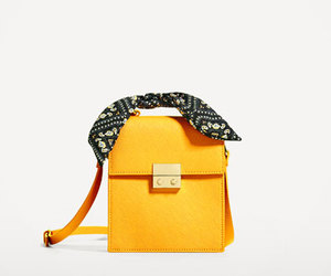 bag, mustard, and satchel image