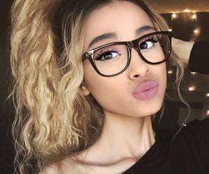 beautiful, eyeglasses, and fashion image