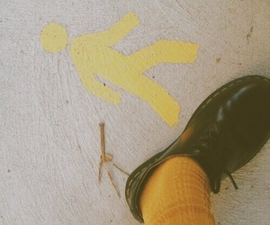 shoes, sick, and yellow image