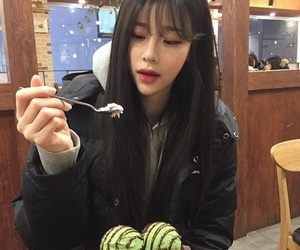 asian, girl, and ice cream image