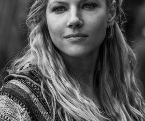 black and white, vikings, and lagertha image