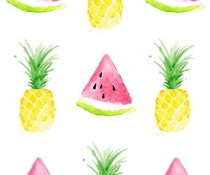 pineapple, wallpaper, and watercolor image