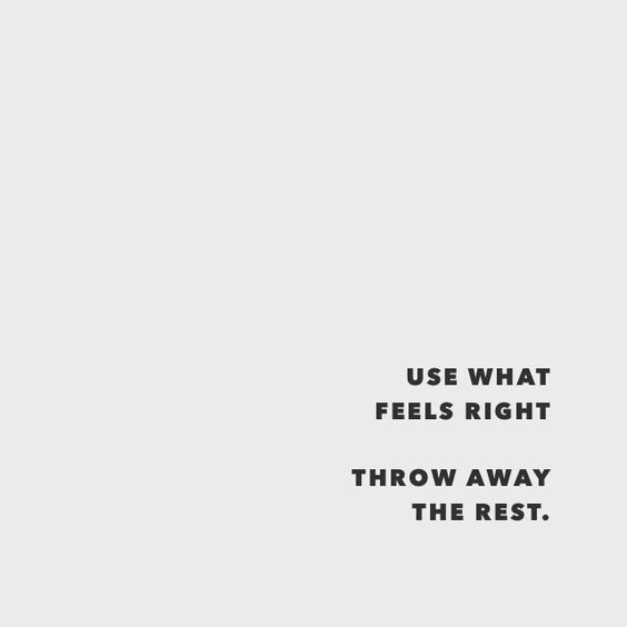 life, feels right, and throw away image
