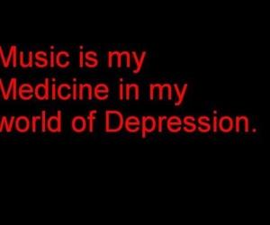 black, music, and depression image