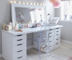 white, makeup, and room image