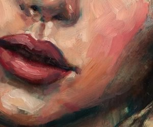 art, face, and lips image